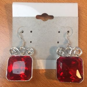 Jewelry - New Red and Silver Earrings